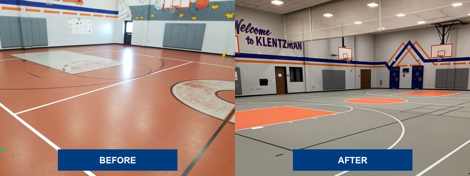 Klentzman Intermediate School Before & After